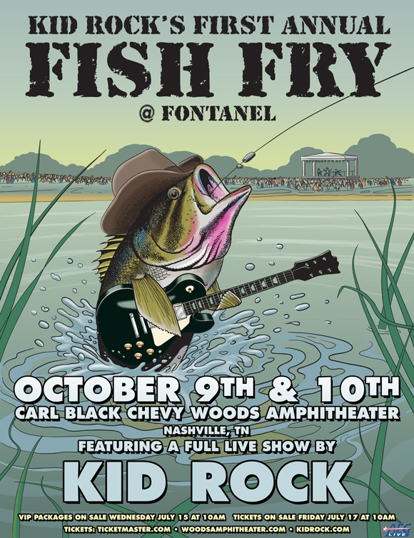 KID ROCK'S FIRST ANNUAL FISH FRY AT FONTANEL